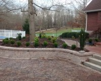Newly completed landscaping project – after photos