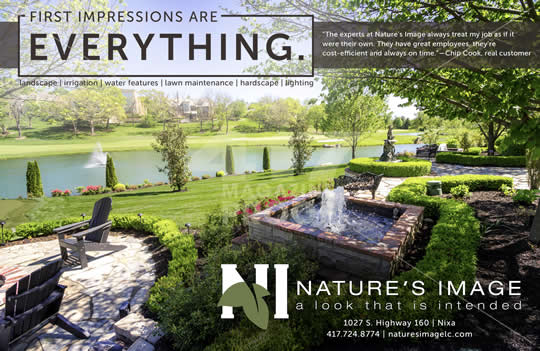 Nature's Image Landscape Contractors Springfield, MO - advertisement in 417 Magazine - 2017-09
